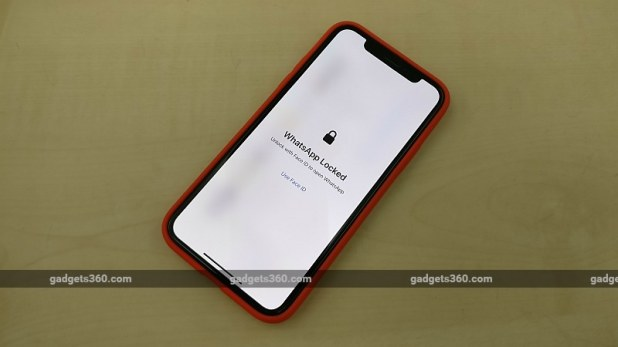 whatsapp iphone biometric authentication face id gadgets 360