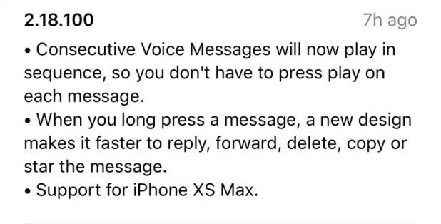 whatsapp iphone xs max screenshot WHatsApp