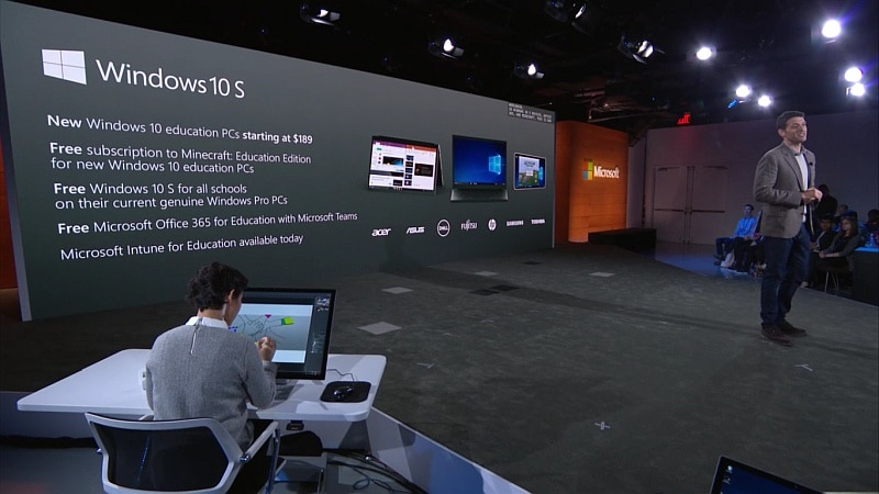 Microsoft Windows 10 S Operating System Launched for Education in Bid to Take on Google's Chrome OS