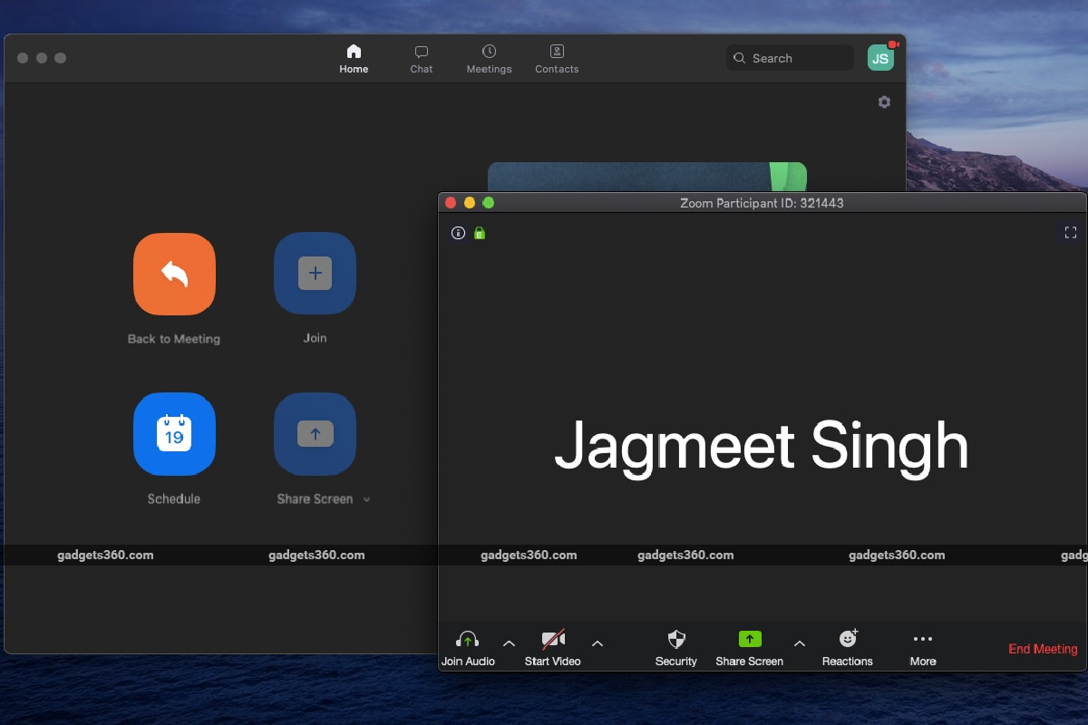 zoom new meeting screen gadgets 360 Zoom