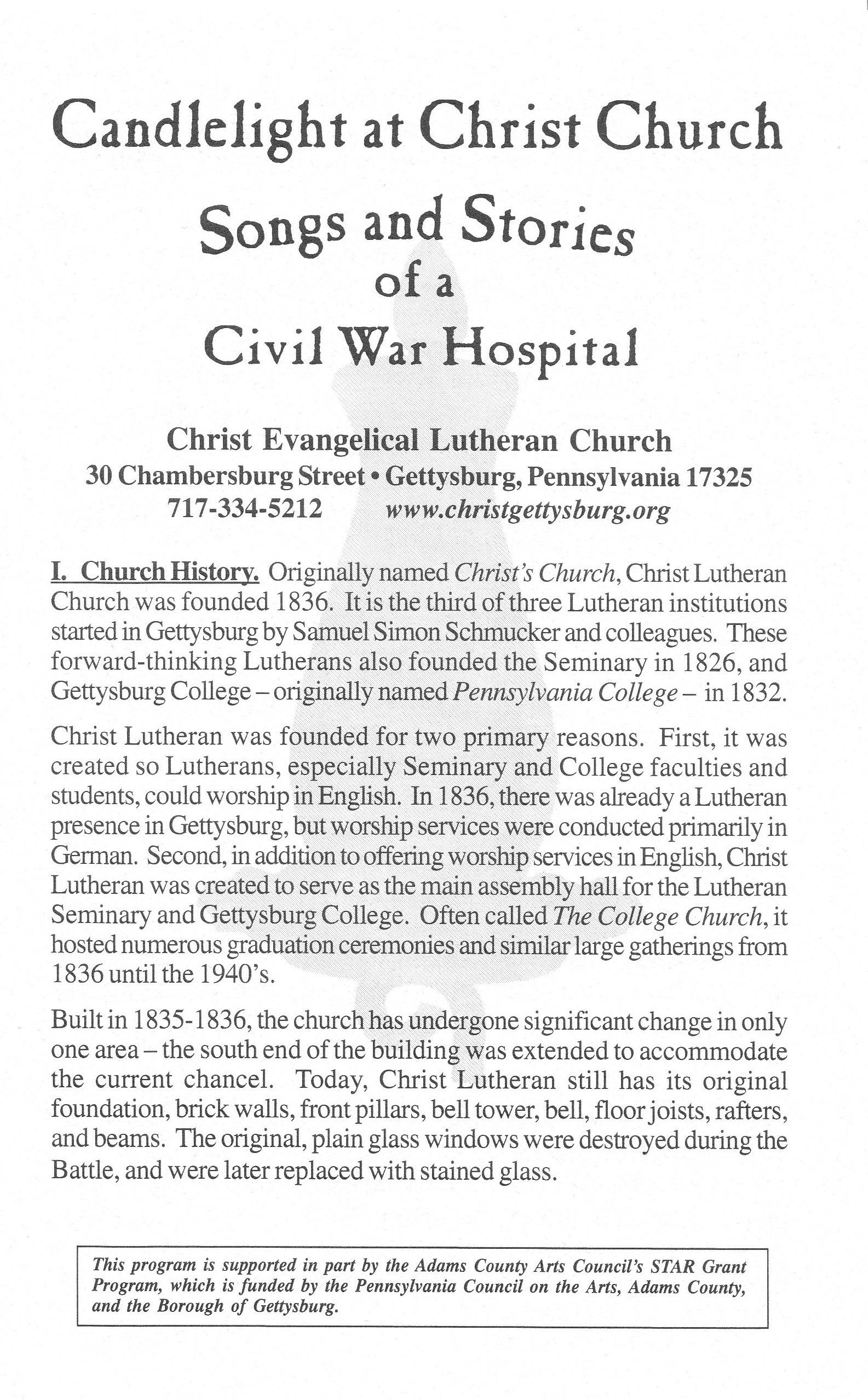 Gettysburg's Christ Lutheran Church Part 6, The Candlelight Program ...
