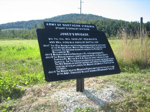Fairfield Pennsylvania Civil War Markers Gettysburg Daily