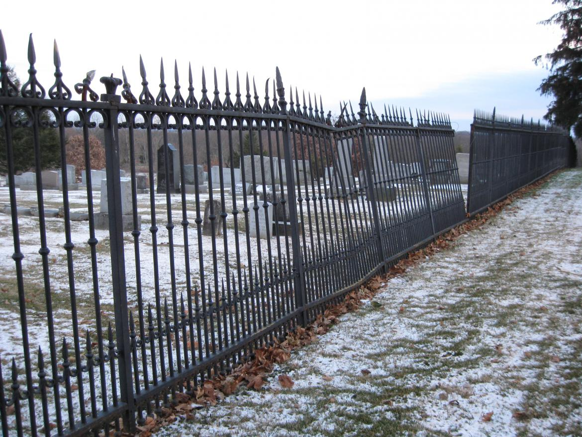 National Cemetery Witness Tree Sickles Witness Fence