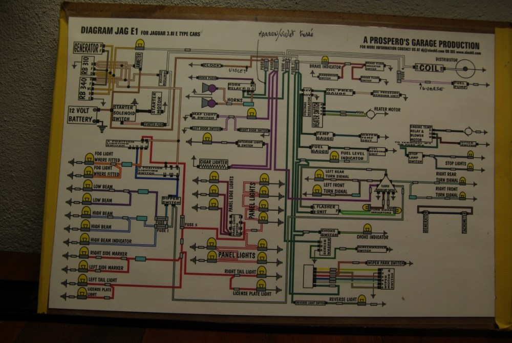 medium resolution of rhd 3 8 instrument panel wiring the e type forum jaguar e type 3 8 wiring diagram