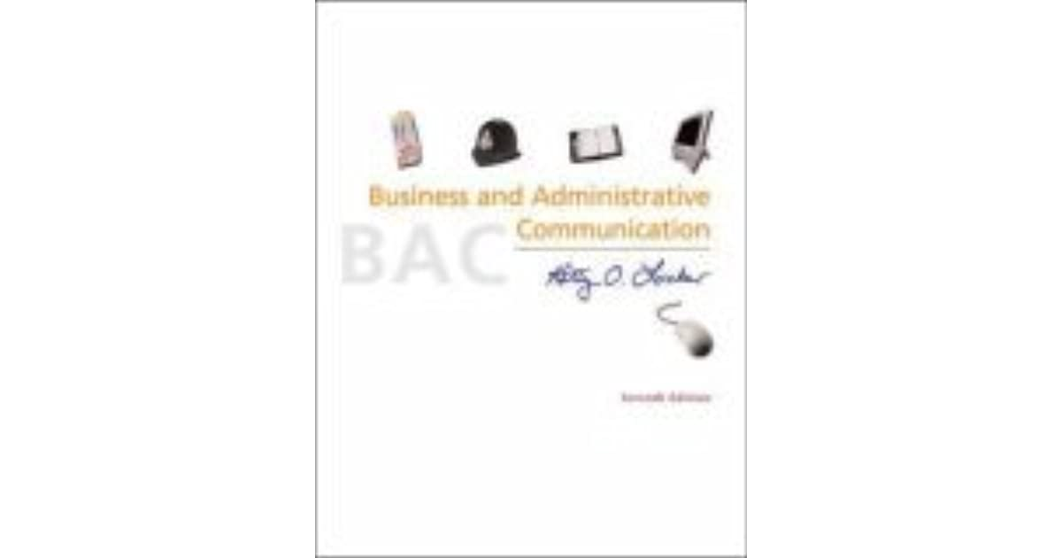 Business and Administrative Communication by Kitty O. Locker