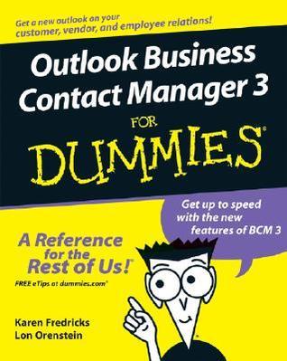Outlook Business Contact Manager : outlook, business, contact, manager, Outlook, Business, Contact, Manager, Dummies, Karen, Fredricks
