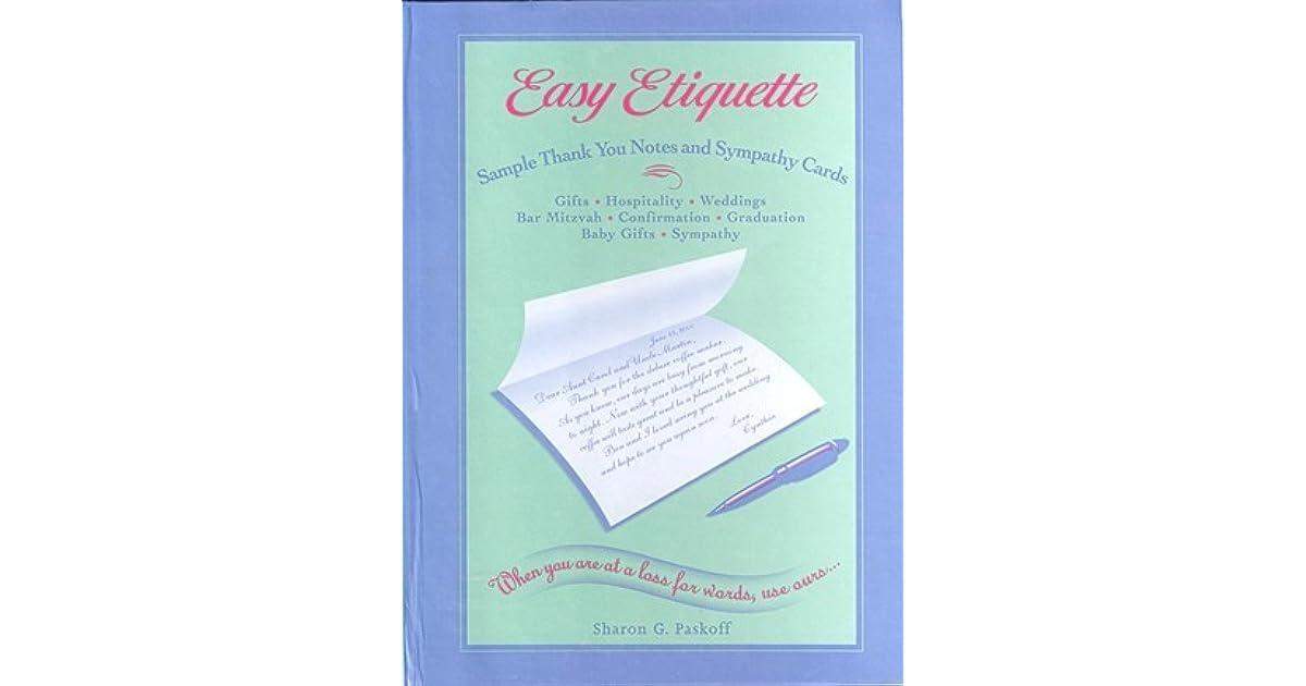 easy etiquette sample thank