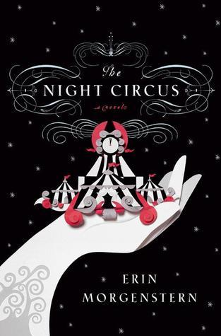 The Night Circus book cover stars arm with tree tattoo on wrist holding circus in hand