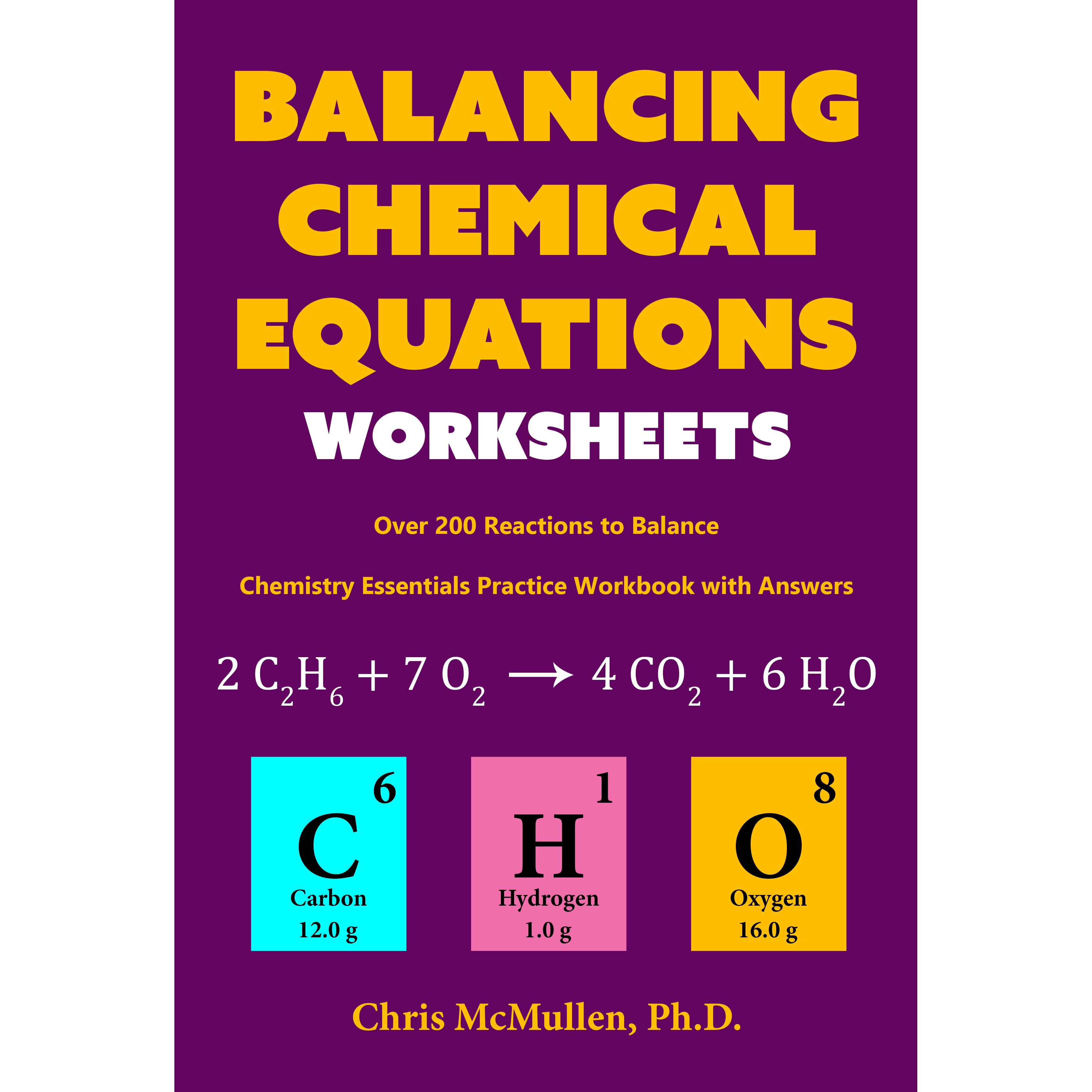 Book Giveaway For Balancing Chemical Equations Worksheets