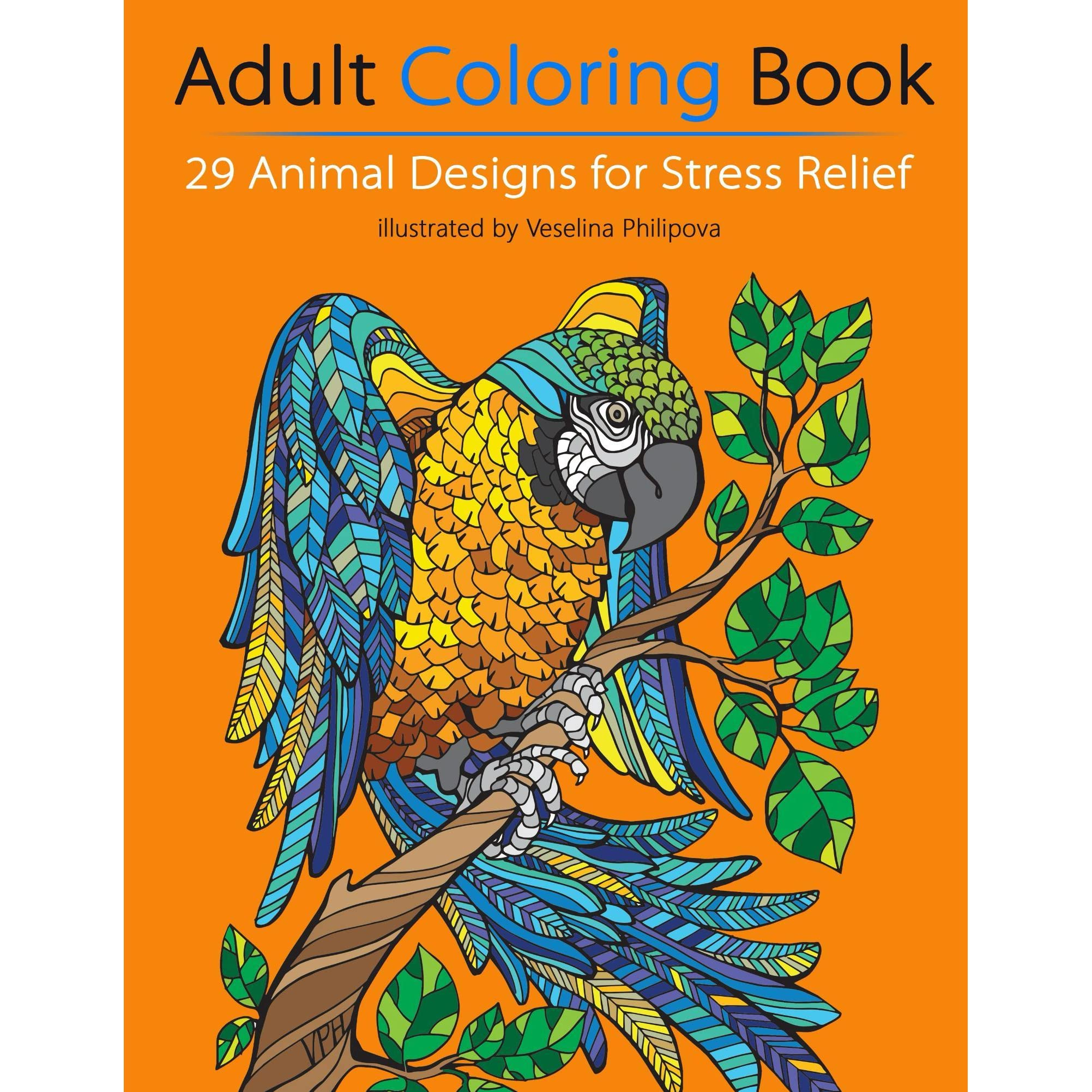 Book Giveaway For Adult Coloring Book 29 Animal Designs