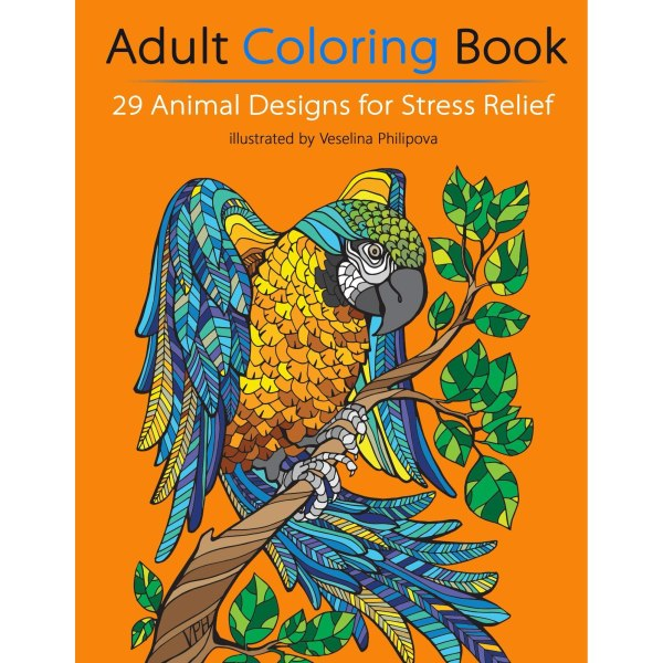 Book Giveaway Adult Coloring 29 Animal Design