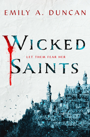 Wicked Saints book cover fantasy city blood