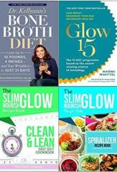 Fat for fuel ketogenic cookbook[hardcover] and glow15 and clean & lean and spiralize 4 books collection set
