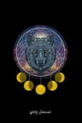 Wolf Journal: Lined Journal Galaxy Wolf Head Cute Mythical Animal Space Lover Girls Gift Black Ruled