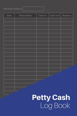 File size is almost unlimited, so there are no restraints on how much information you need to track. Petty Cash Log Book Cash Recording Managing Book 120 Pages 6 X9 By Not A Book