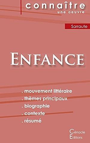 Enfance (nathalie Sarraute) : enfance, (nathalie, sarraute), Fiche, Lecture, Enfance, Nathalie, Sarraute