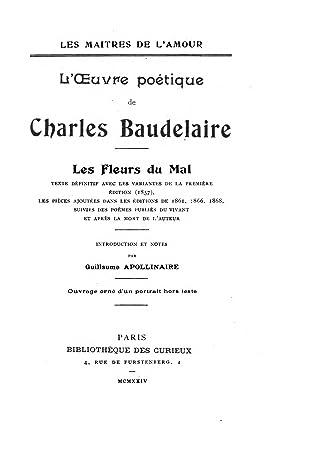 Baudelaire L'homme Et La Mer : baudelaire, l'homme, L'Œuvre, Poétique, Charles, Baudelaire, Fleurs