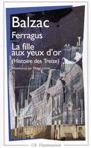 Balzac La Fille Aux Yeux D'or : balzac, fille, Ferragus, Fille, Honoré, Balzac