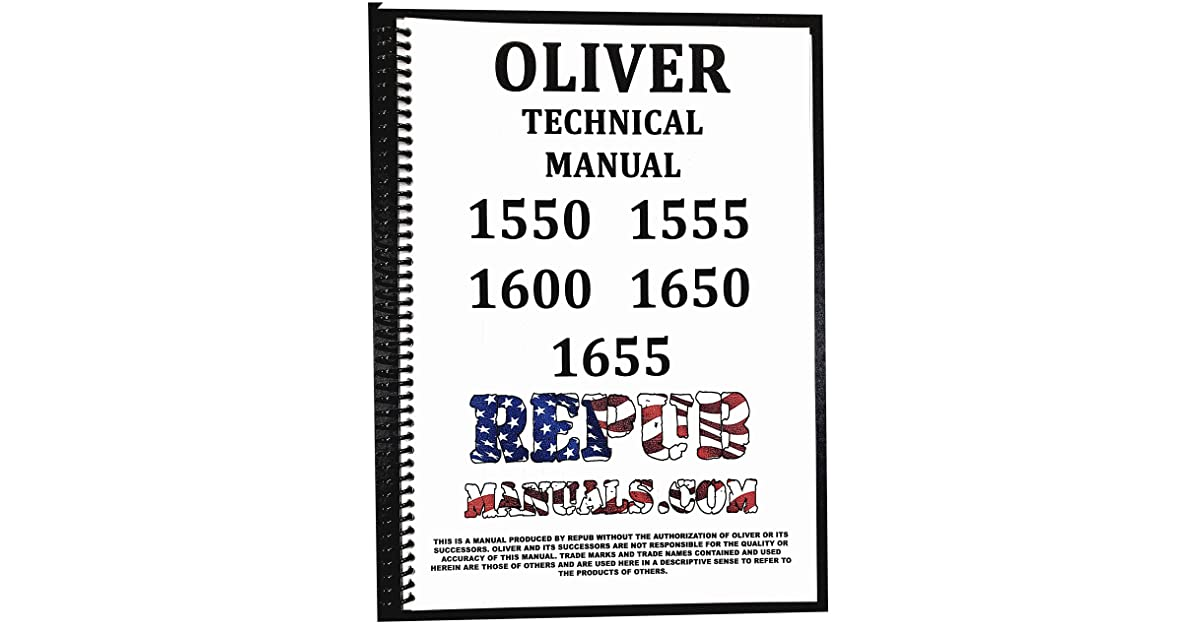 Oliver 1650 Service Manual Technical Repair Book 1650 by