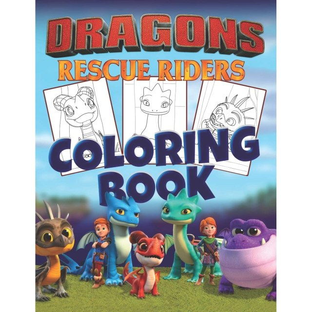 Dragons Rescue Riders Coloring Book: 30 Illustrations for Kids by