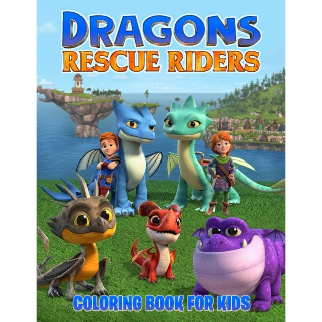 Dragons Rescue Riders Coloring Book For Kids: Ages 30 - 30 ~ 305