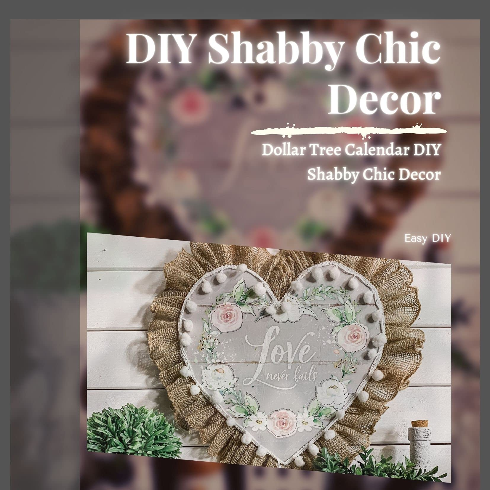 So if you love shabby chic, here are some shabby chic decorating ideas you can start working on. Diy Shabby Chic Decor Dollar Tree Calendar Diy Shabby Chic Decor By Easy Diy