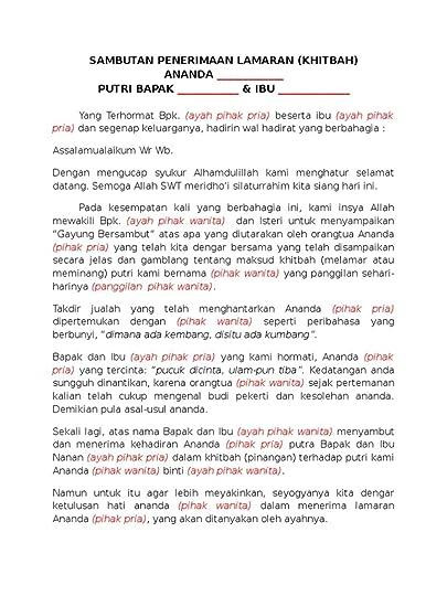 Sambutan Tuan Rumah Bahasa Jawa : sambutan, rumah, bahasa, COTRASUR-MPA, Contoh, Pidato, Serah, Terima, Pengantin, Showing