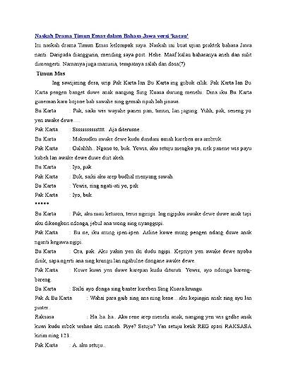 Contoh Drama Musikal : contoh, drama, musikal, Pujiminkapsul's, Weblog, Dialog, Naskah, Drama, Timun, Dalam, Bahasa, Showing