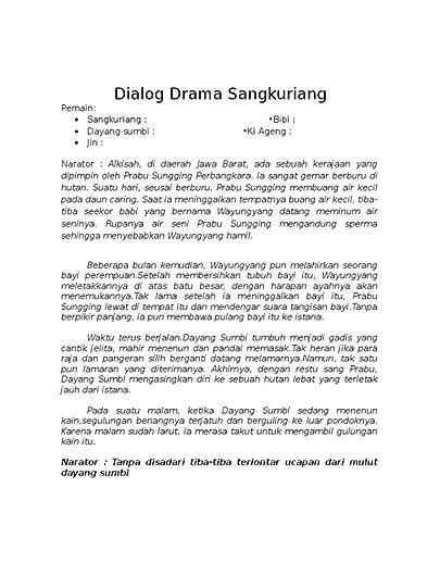 Cerita Rakyat Bahasa Jawa : cerita, rakyat, bahasa, Novagon, [FULL], Dialog, Naskah, Drama, Sangkuriang, Bahasa, Orang, Showing