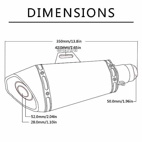 cbr 600 exhaust diameter chart