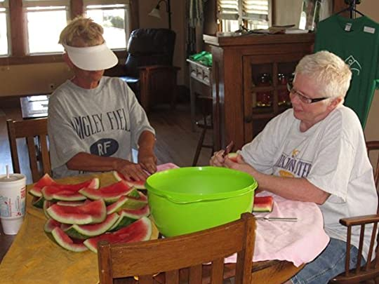 Photo: Thanks to Diane Franson Krisor and Diana Lynn McIntosh, we will be ready to pickle watermelon rind tomorrow!