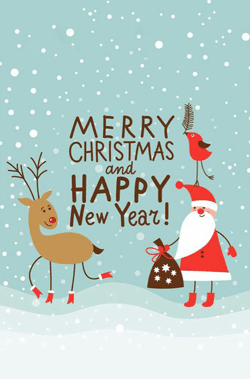 Merry Xmas Cartoon Pics : merry, cartoon, Heart-warming, Cartoon, Christmas, Cards, GraphicMama