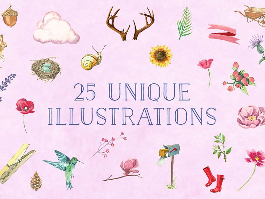 Download Free Watercolors: Backgrounds, Patterns, Objects, Logos ...