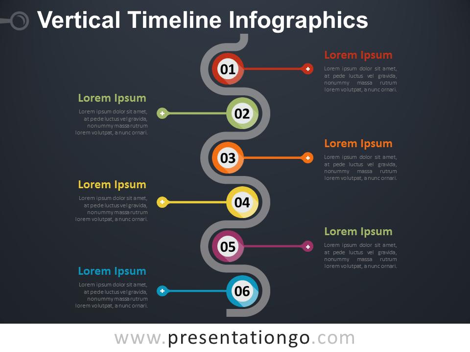 History Black Timeline Powerpoint
