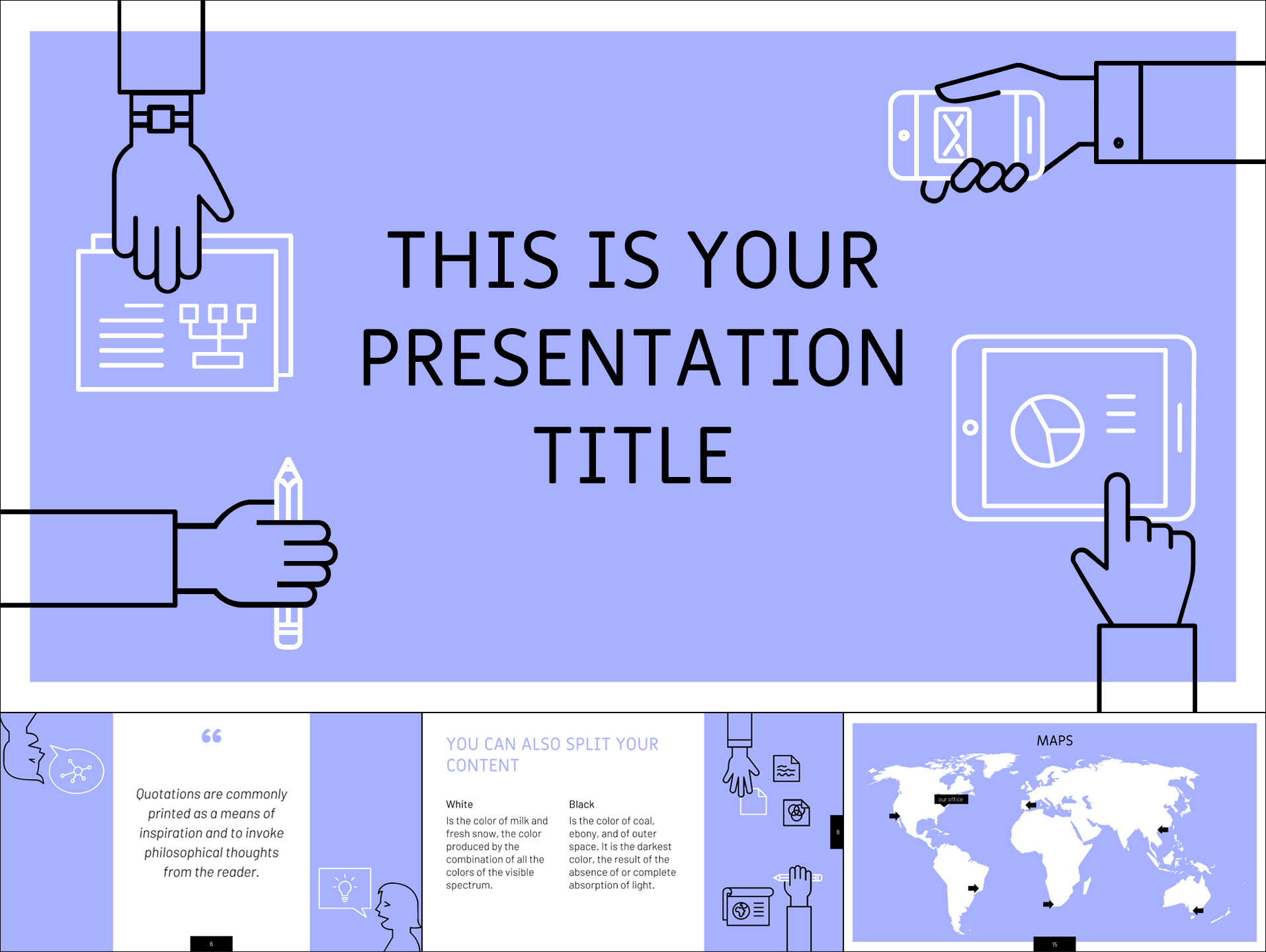 Free Template with Conceptual Outline Illustrations - The Internet Tips