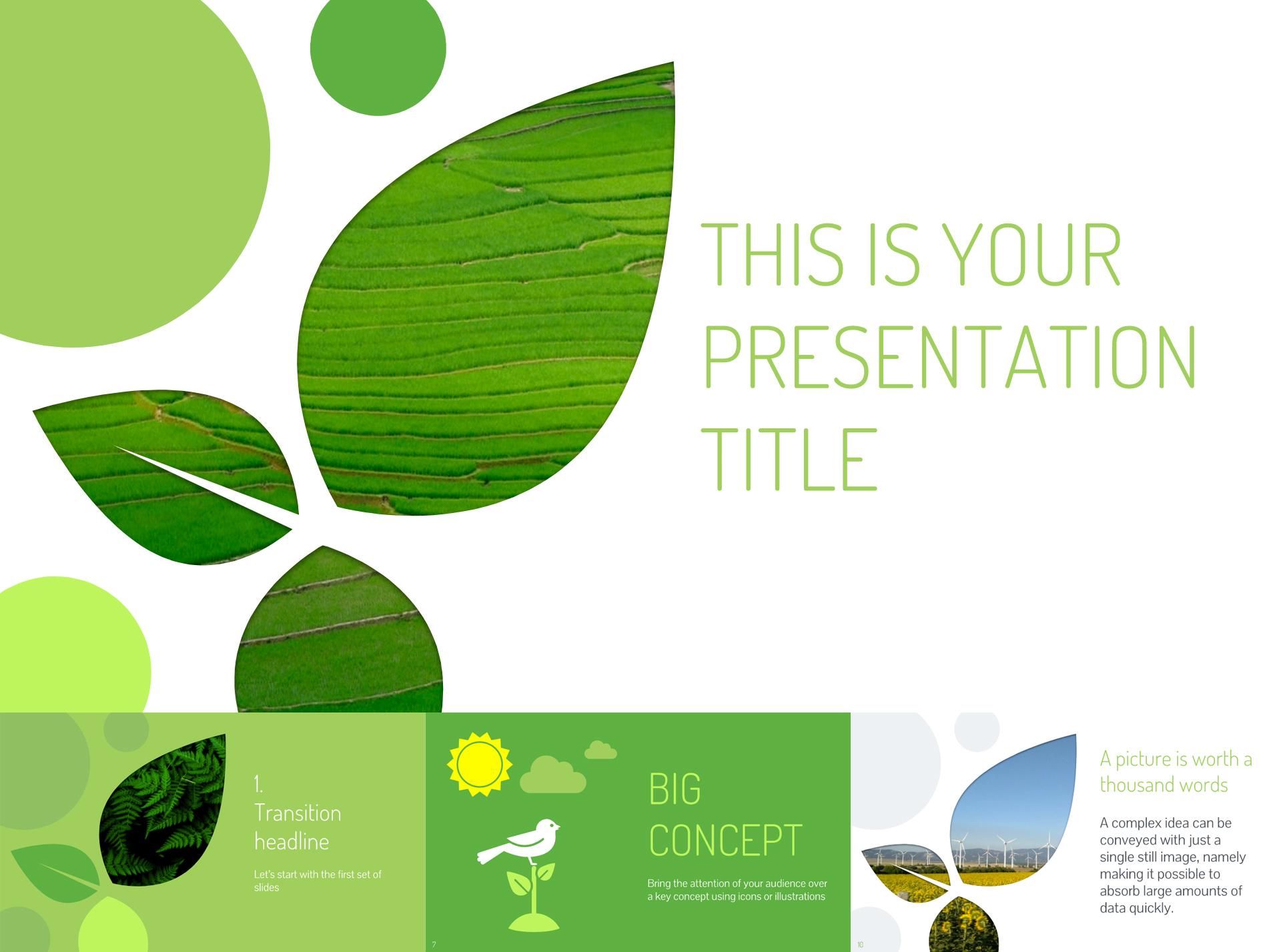 Nature Inspired Free Google Slides  - The Internet Tips