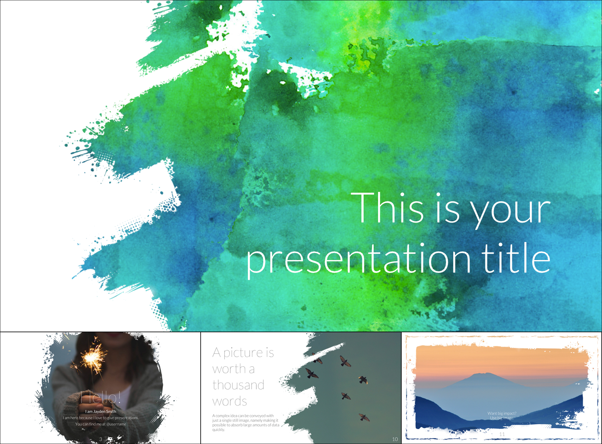 Free Artsy Google Slide Templates Theme - The Internet Tips