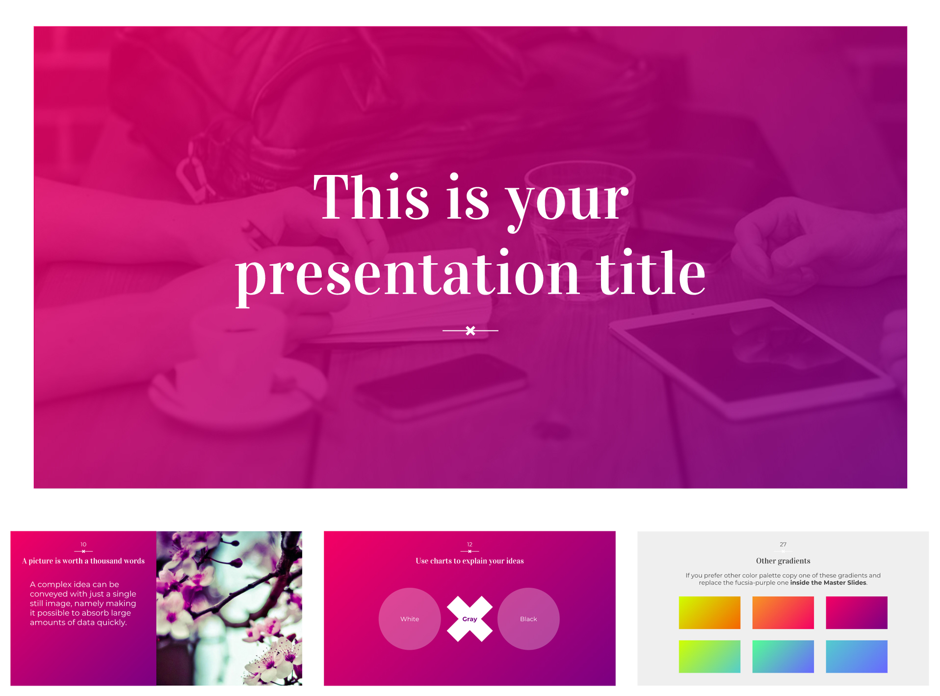 Free Google Slides Templates with 6 Color Gradients - The Internet Tips