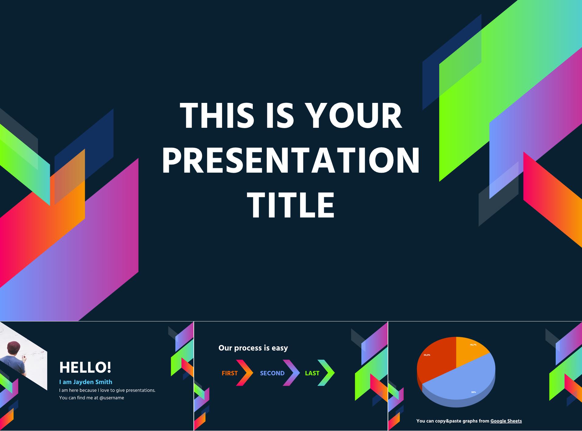 Neon Theme Free Google Slides Templates - The Internet Tips