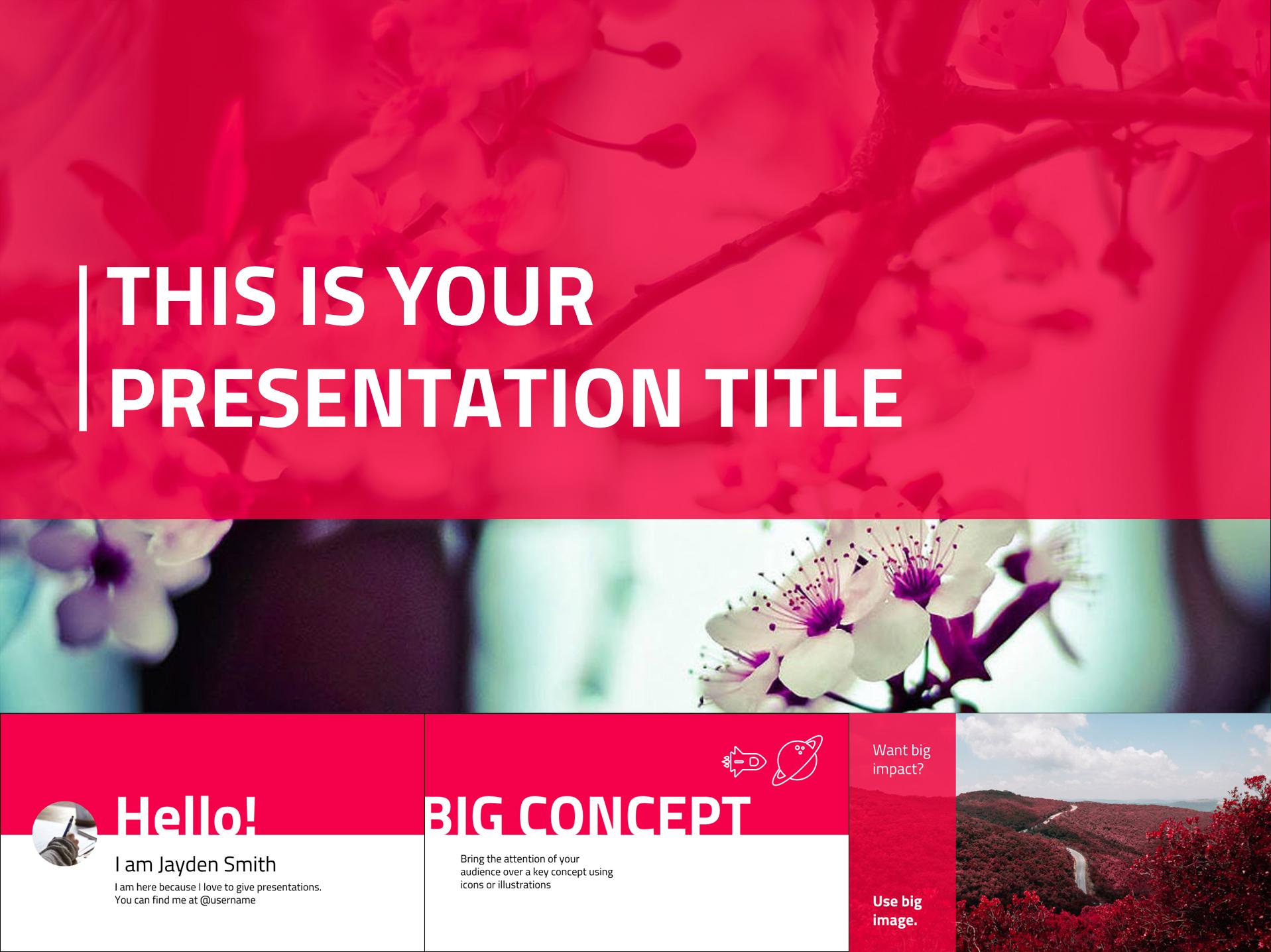 Brand Color Google Slides Presentation Design - The Internet Tips