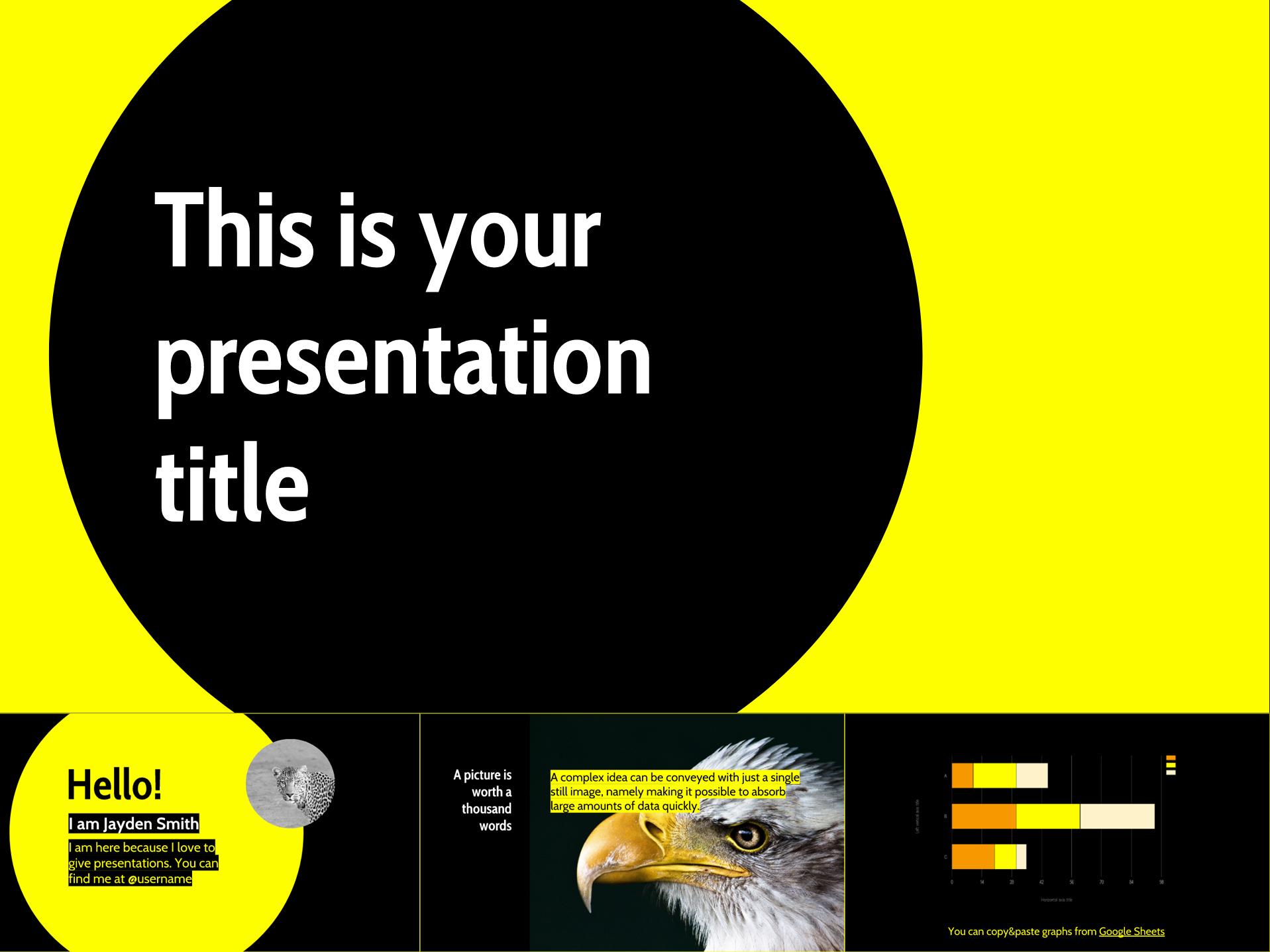 Bright Yellow Free Google Slides Templates Design - The Internet Tips