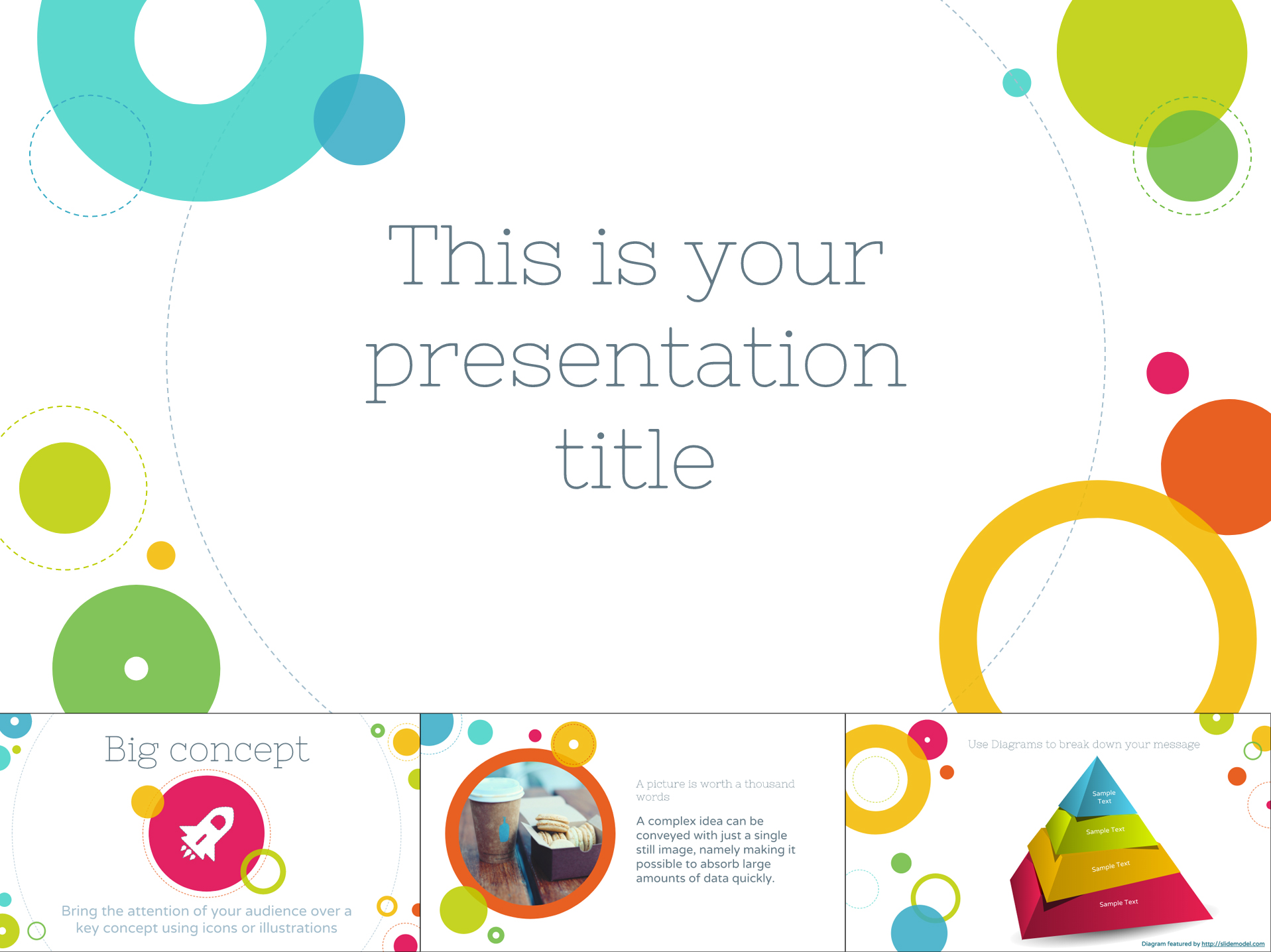 Cheerful Free Google Slides Template With Colorful Circles - The Internet Tips