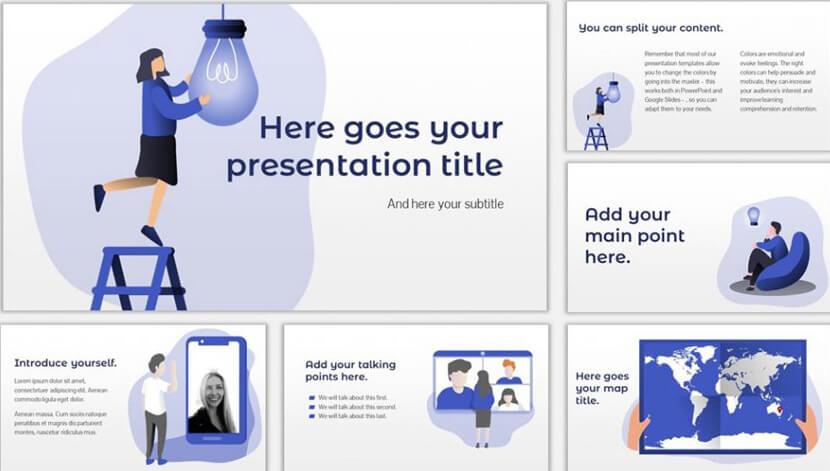Free Template for PowerPoint and Google Slides Presentations Pole - The Internet Tips