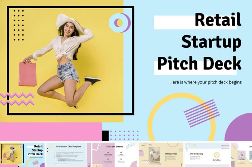 Retail Startup Pitch Deck Presentation – Free Google Slides theme - The Internet Tips