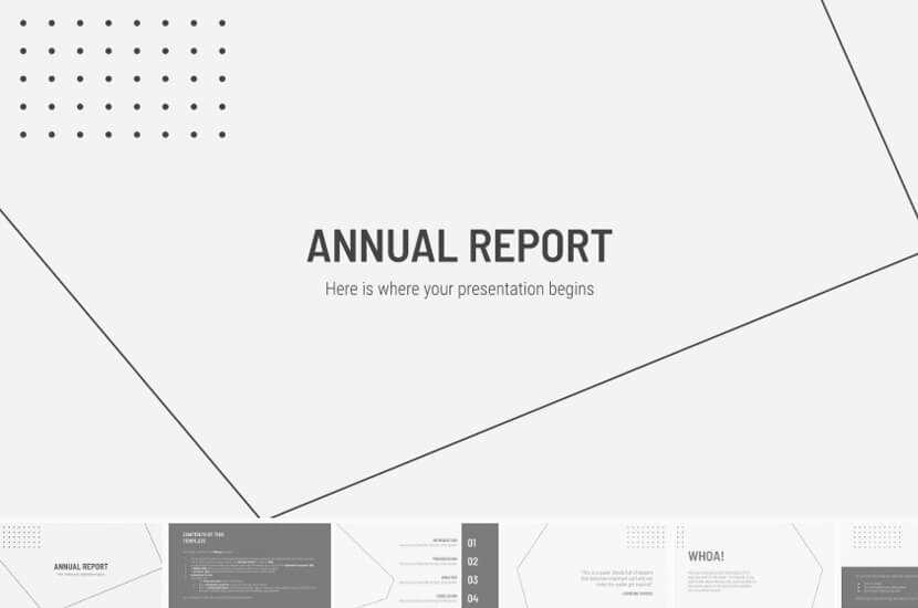 Free Google Slides theme for Annual Report Presentation - The Internet Tips