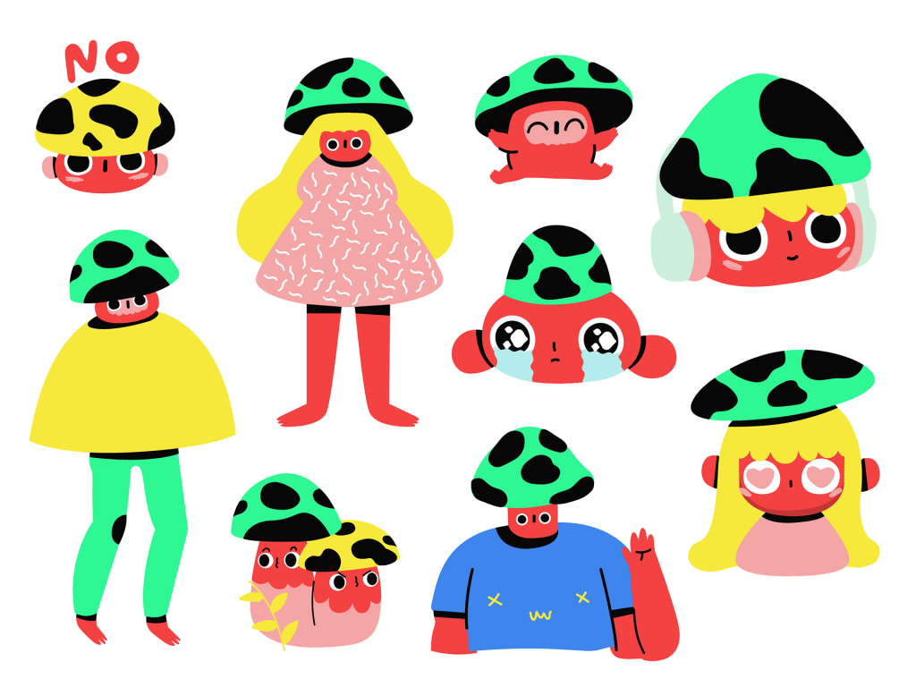 100 great flat character