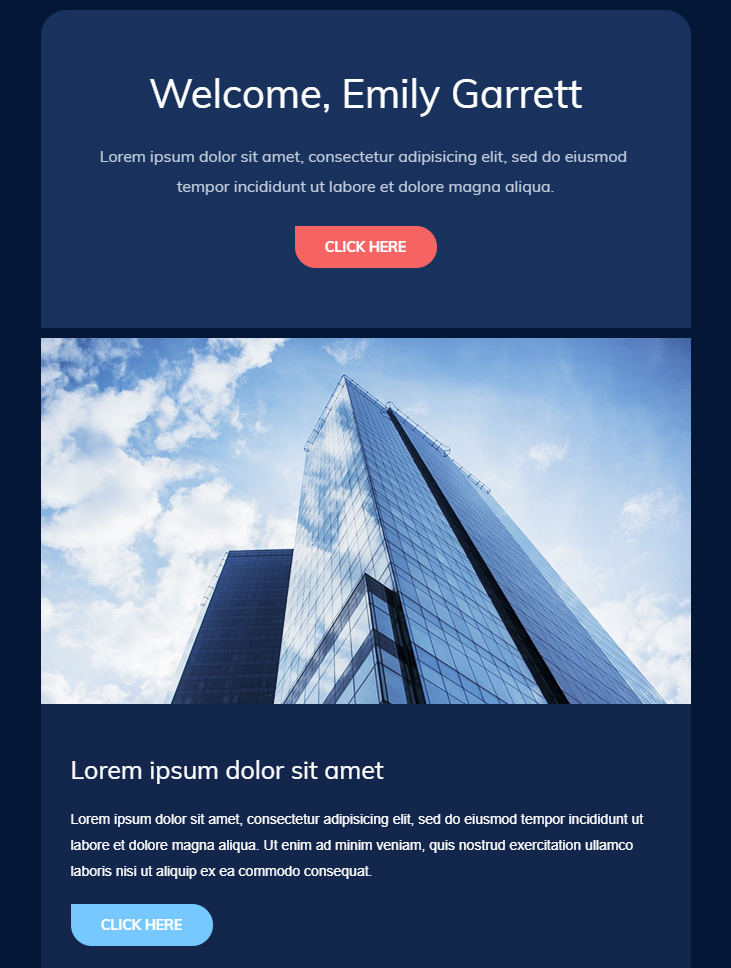 While the templates are not all specifically welcome emails, they are highly customizable and an excellent starting point for any email marketing campaign. 99 Free Responsive Html Email Templates To Grab In 2020