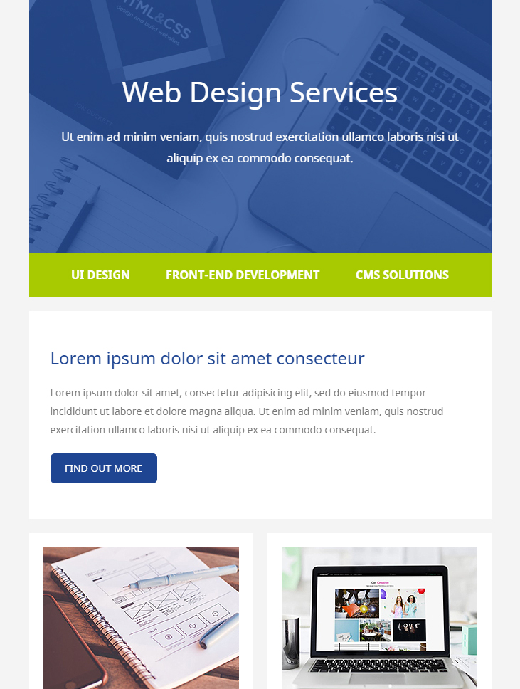 """Download all 91 """"ecommerce"""" email templates unlimited times with a single envato elements subscription. 99 Free Responsive Html Email Templates To Grab In 2020"""