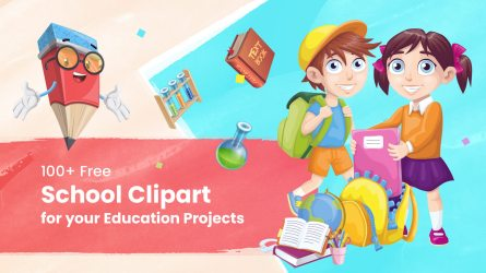 100+ Free School Clipart for your Education Projects GraphicMama Blog