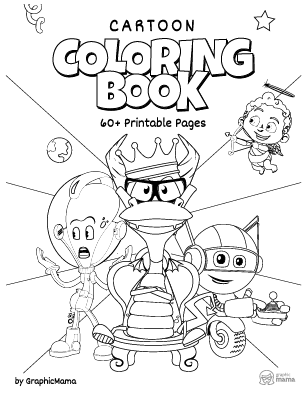 Cartoon Coloring Book 60 Free Printable Pages Pdf By Graphicmama Graphicmama Blog